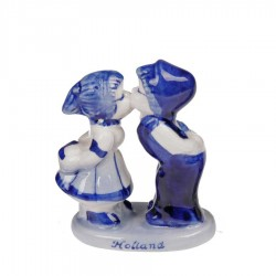 Kissing Couple - Delft Blue • Souvenirs from Holland