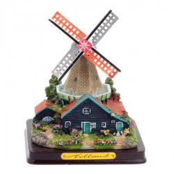 Windmill Polystone -12 Cm - Miniature Landscape - Windmills | Souvenirs From Holland