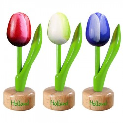 Tulip Pedestals - Wooden Tulips Souvenirs • Souvenirs from Holland