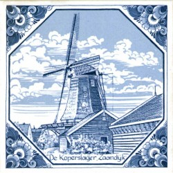 Windmills - Tiles | Souvenirs From Holland