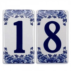 Flat Delft Blue - Housenumbers | Souvenirs From Holland