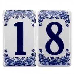 Plat Delfts Blauw - Huisnummers | Souvenirs From Holland
