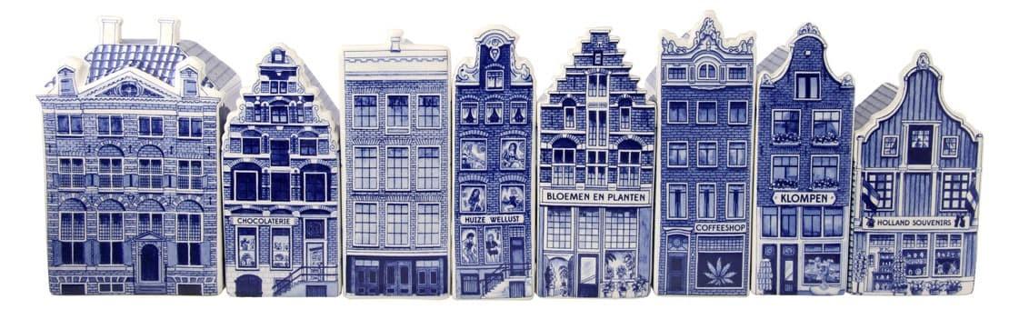 Leuke verzameling Delfts Blauwe Grachtenhuizen