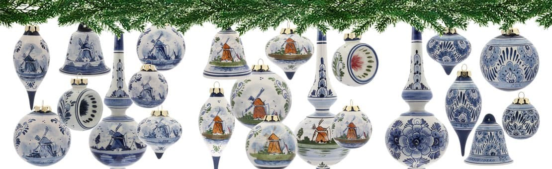 Delft Blue handpainted Christmas ornaments